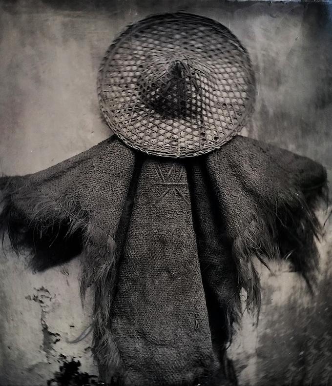 """The Crucified Fisherman"" 8'x10"" Wet Collodion Ambrotype. Hangzhou, China 2014"