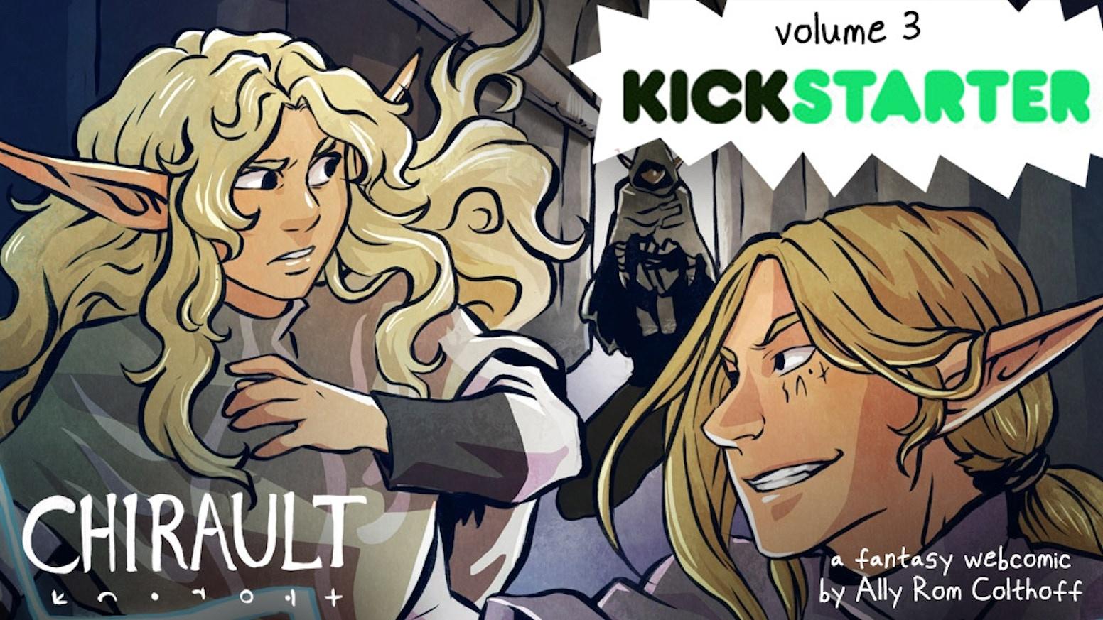 Printing Volume 3 of Chirault, an epic fantasy graphic novel!