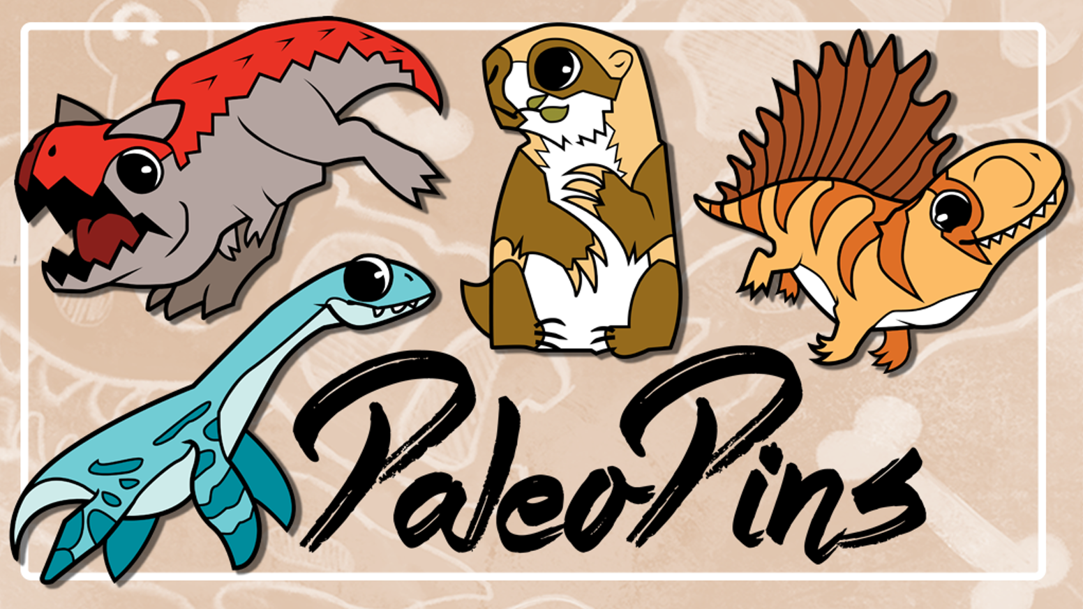 A continuation of the PaleoPins line of cute prehistoric enamel pins!