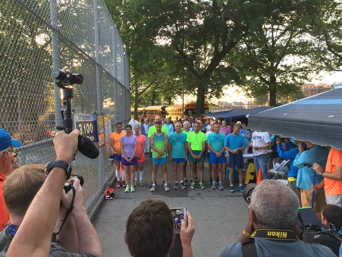 The start of the 2016 3,100 Mile Race