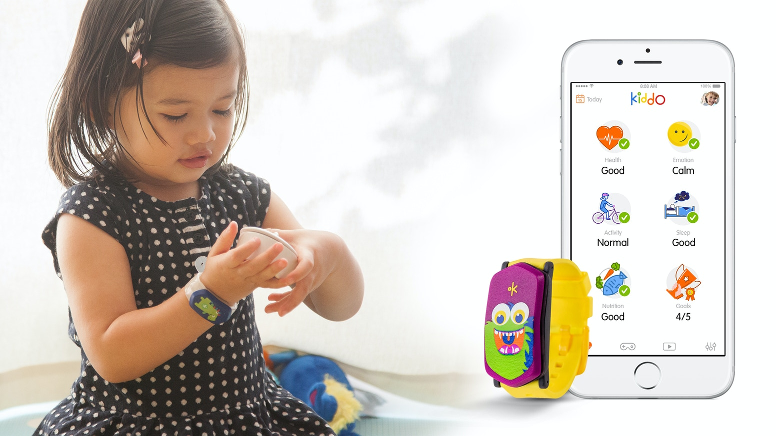 Smart band for young kids that monitors health while they play