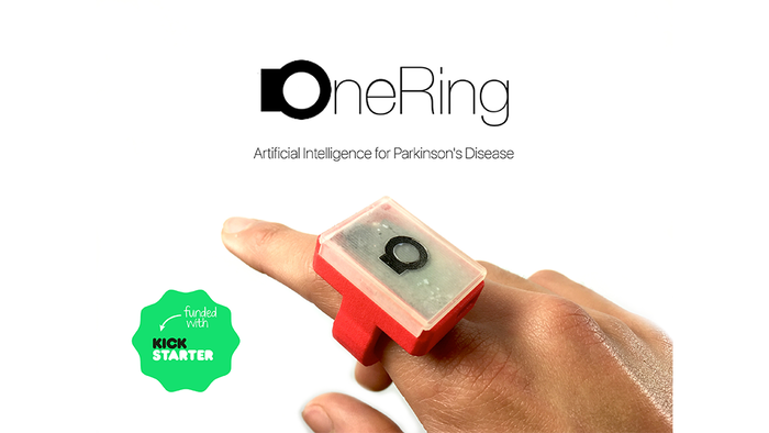 OneRing identifies Parkinson's motor symptoms to generate daily patient reports and help doctors prescribe medications more accurately.