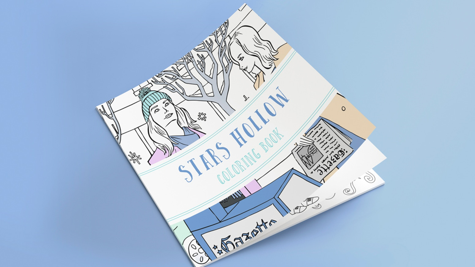 From the creative minds behind Lit-Cube & Stars Hollow Monthly... a coloring book to transport you right to Stars Hollow, CT.!