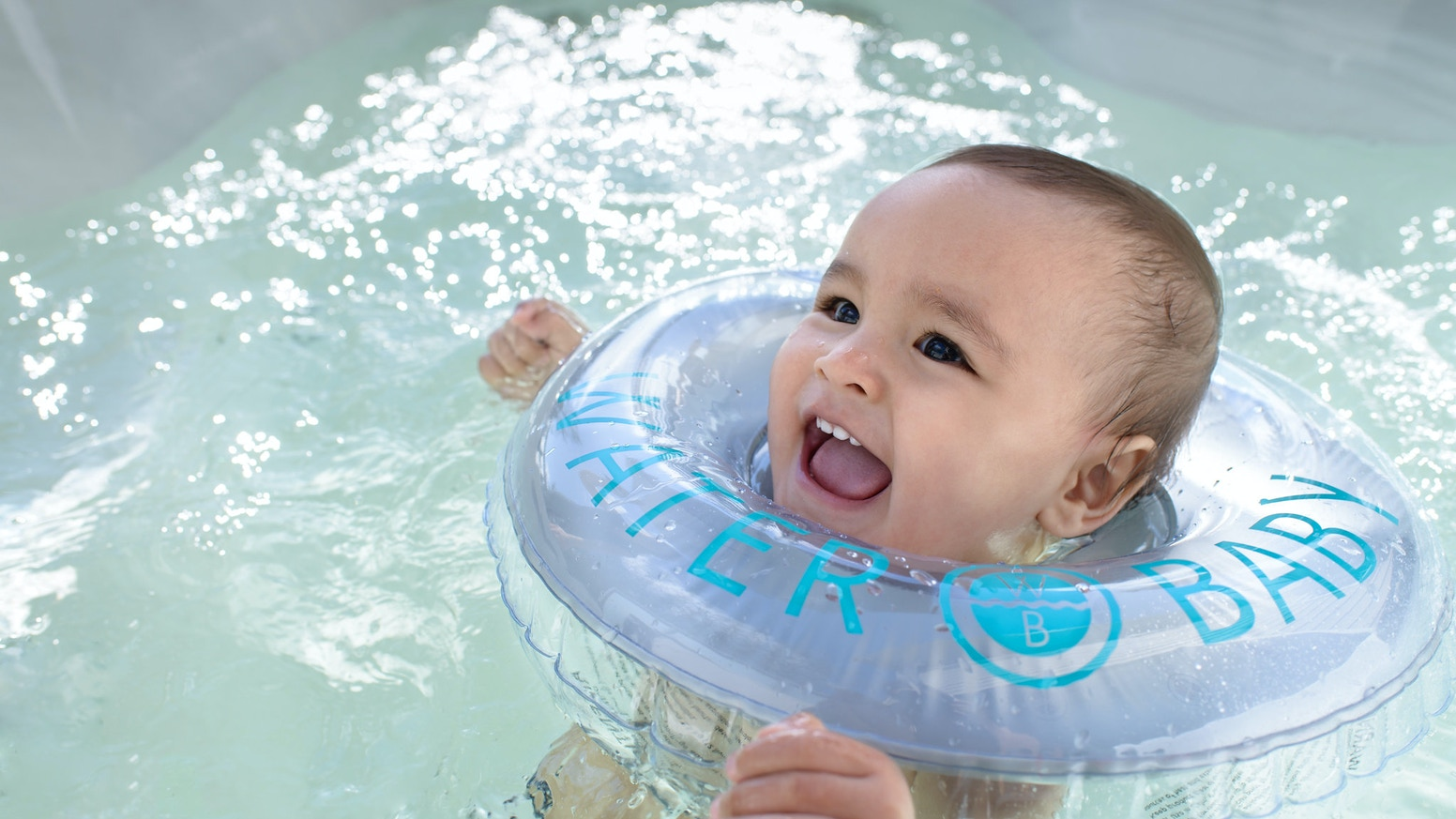 water baby  a floatie designed for the modern baby by waterbaby  - a modern neck floatie designed with you and your water baby in mind