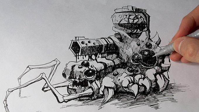 Spider boss sketch...