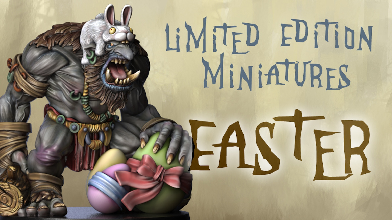 For all collectors, painters and gamers: Two limited edition miniatures created to celebrate this Easter 2017 with a fantasy style!