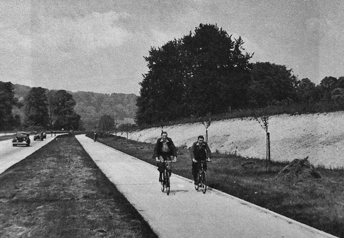 1930s cycleway on the Mickleham Bypass (it's still there but much narrowed).