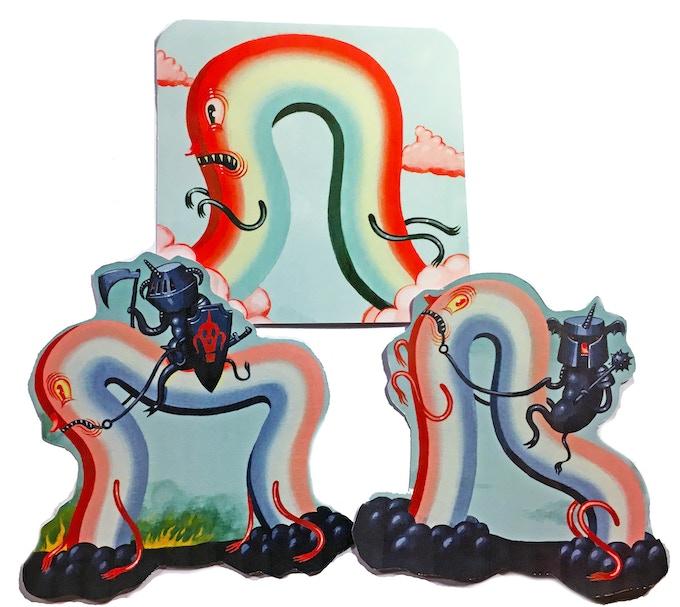 "4"" Die Cut Unicorn Sticker Pak (Mock-up)"