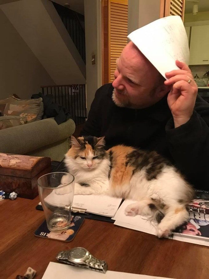 Not even cats can resist Sword's Edge! (Note, some cats may resist Sword's Edge)