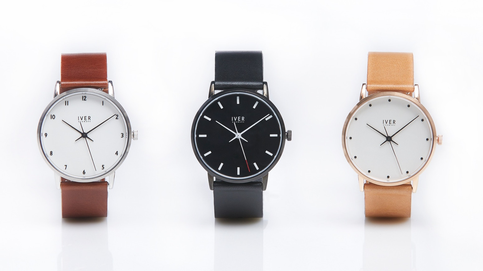 Danish Design. Swiss Quality.   Minimalist watches with hand-made vegetable tanned leather straps.