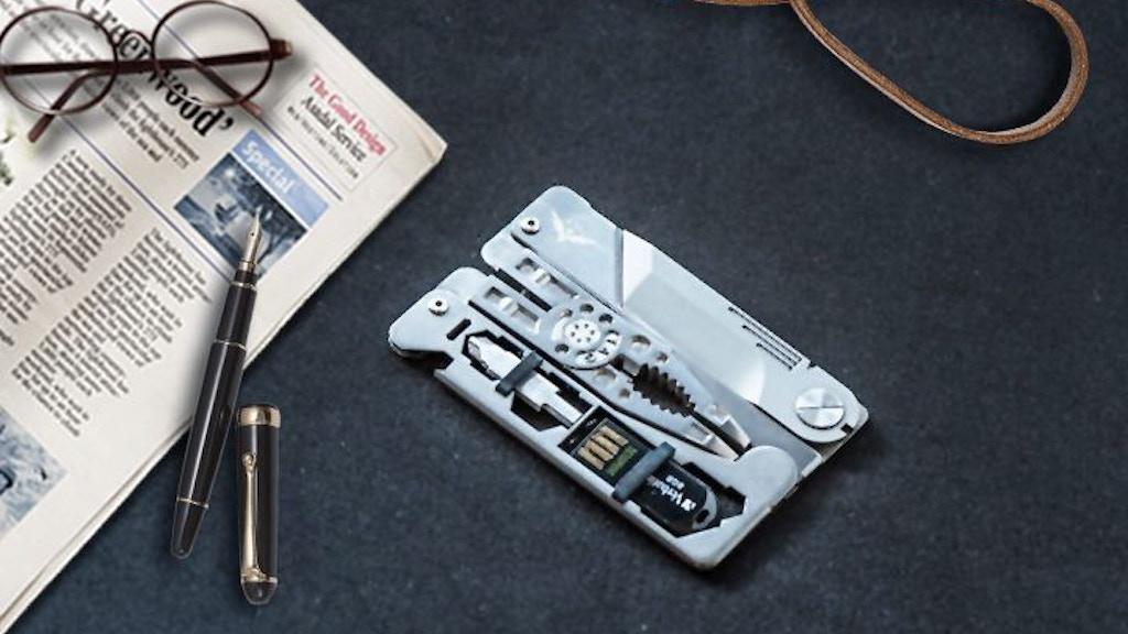 SUPRA TAG - Credit card multifunctional plier full Titanium project video thumbnail