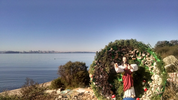The second Buddy Christ Shrine, in Albany, CA