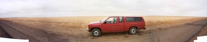 my pickup Tach, in a North Dakota field