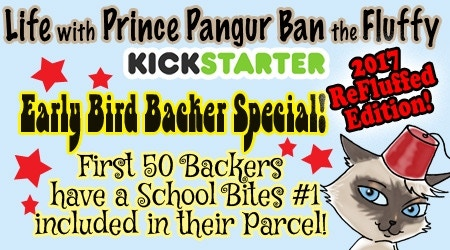 First 50 Backers will have a #1 School Bites included with their pledge of $25 and Up! (sorry postcard level not included)