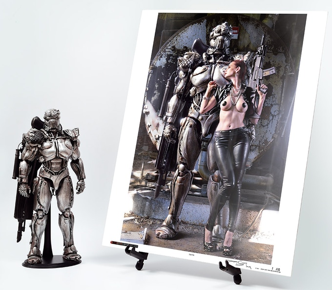 One-Of-A-Kind Robot & Limited Edition Metal Print