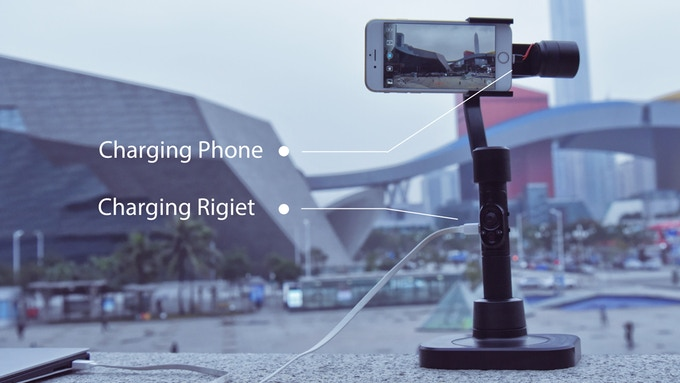 Charge your phone and Rigiet at the same time!