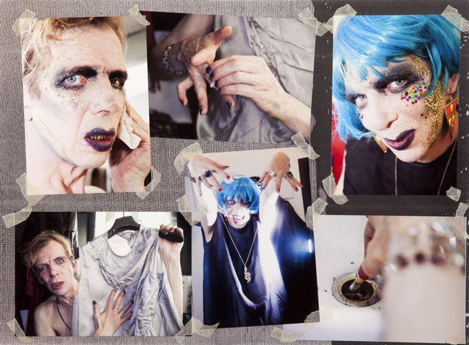 David Hoyle photo-collage by Holly Revell