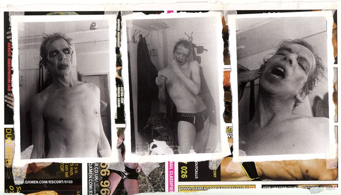 Original Artwork of David Hoyle by Holly Revell (hand printed 35mm bw film on QX page, 30 x 20cm - mounted and framed)