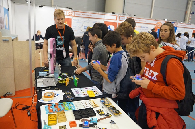 Pokitto was introduced as a protype at Maker Faire Rome 2016. Children were very enthusiastic and interested in Pokitto. We had 800 players in 2 days, and all wanted to have one!