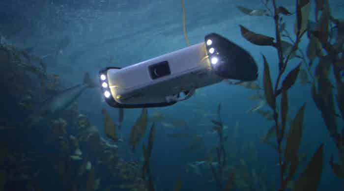 The OpenROV Trident is a robot for underwater exploration.