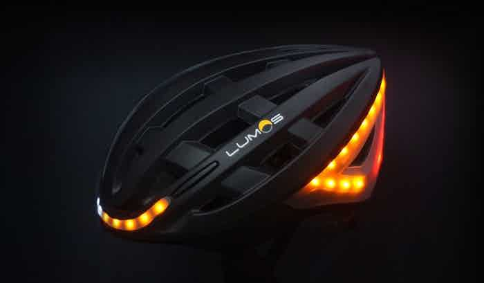 The Lumos helmet has brake lights that know when you're braking.
