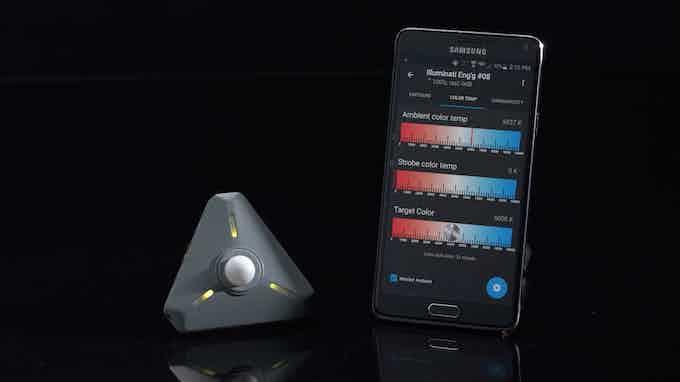 Color temperature reading on app