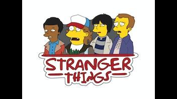 Stranger Things Simpsonized Pin
