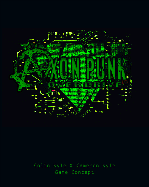 Cover from the first playtest book of Axon Punk
