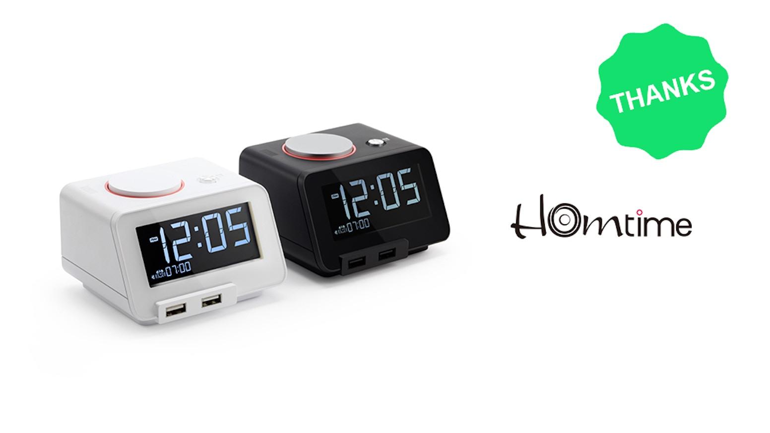 Gesture-controlled nightlight, jumbo-display time, speaker, dual USB  charging ports