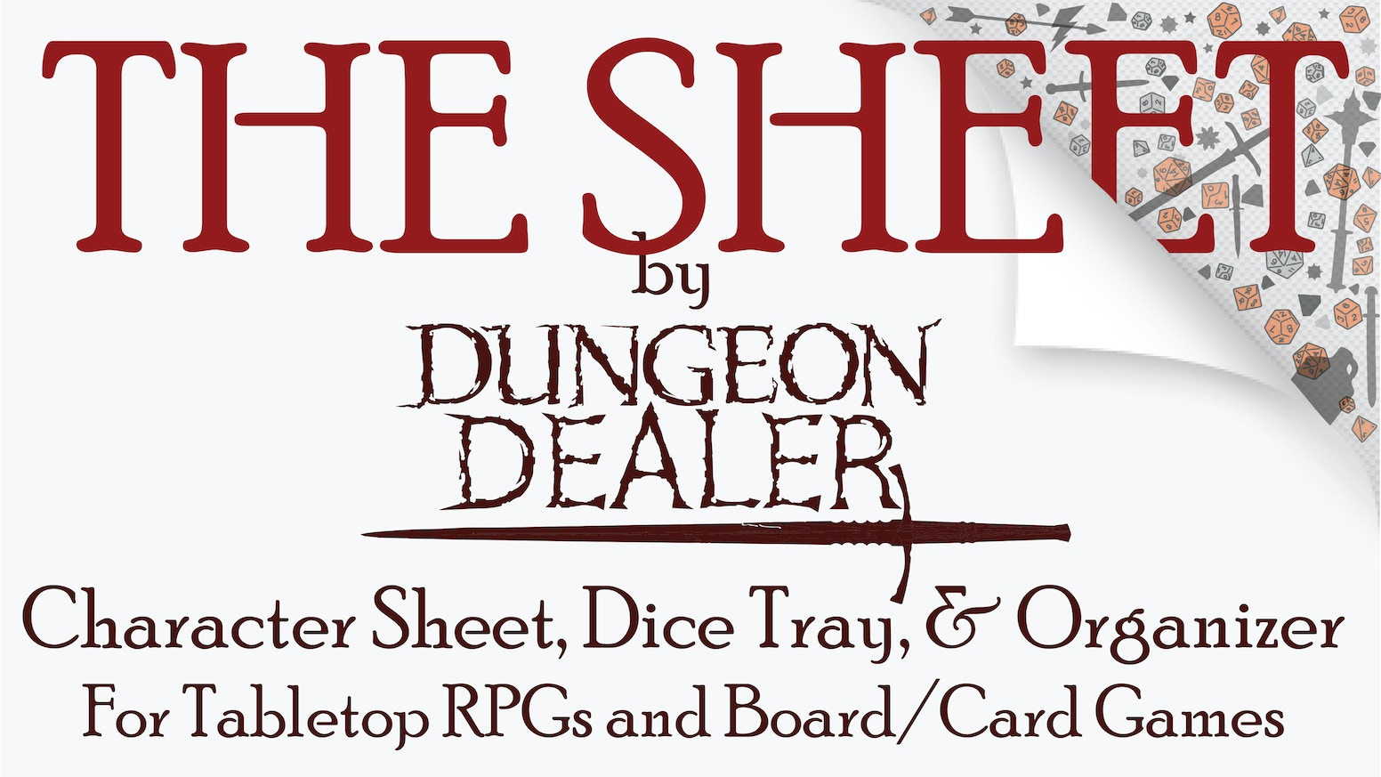 A dice tray and loot holder and dry erase character sheet holder all in one. For all tabletop RPGs or board/card games.
