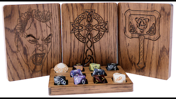 Custom Solid Oak Dice Box & Compact Dice Tray