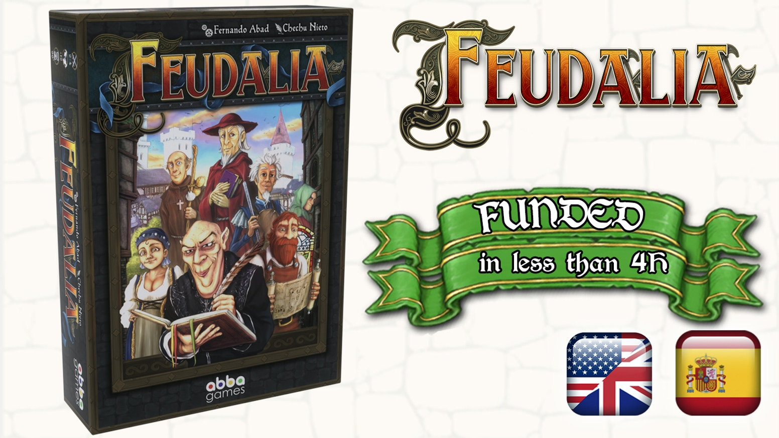 Feudalia is a deck-building and resource management game for 1-4 players, who will take the roles of the feudal lords of the new lands.