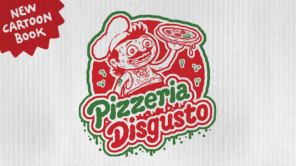 Pizzeria Disgusto - a cartoon book about Pizza, Pasta & Co Project-Video-Thumbnail