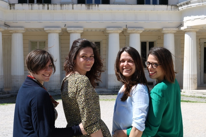 from the right side: Ilaria Papiri, Luana Astore, Gioia Santacaterina, Fabiana Illiano
