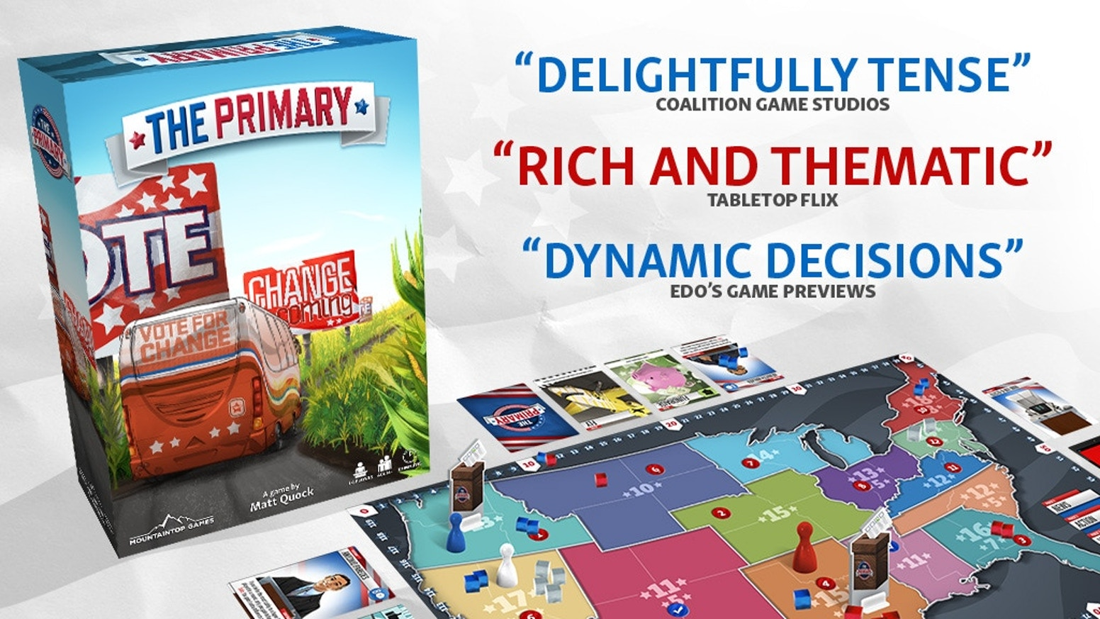The Primary - An Election Strategy Board Game by Mountaintop Games ...