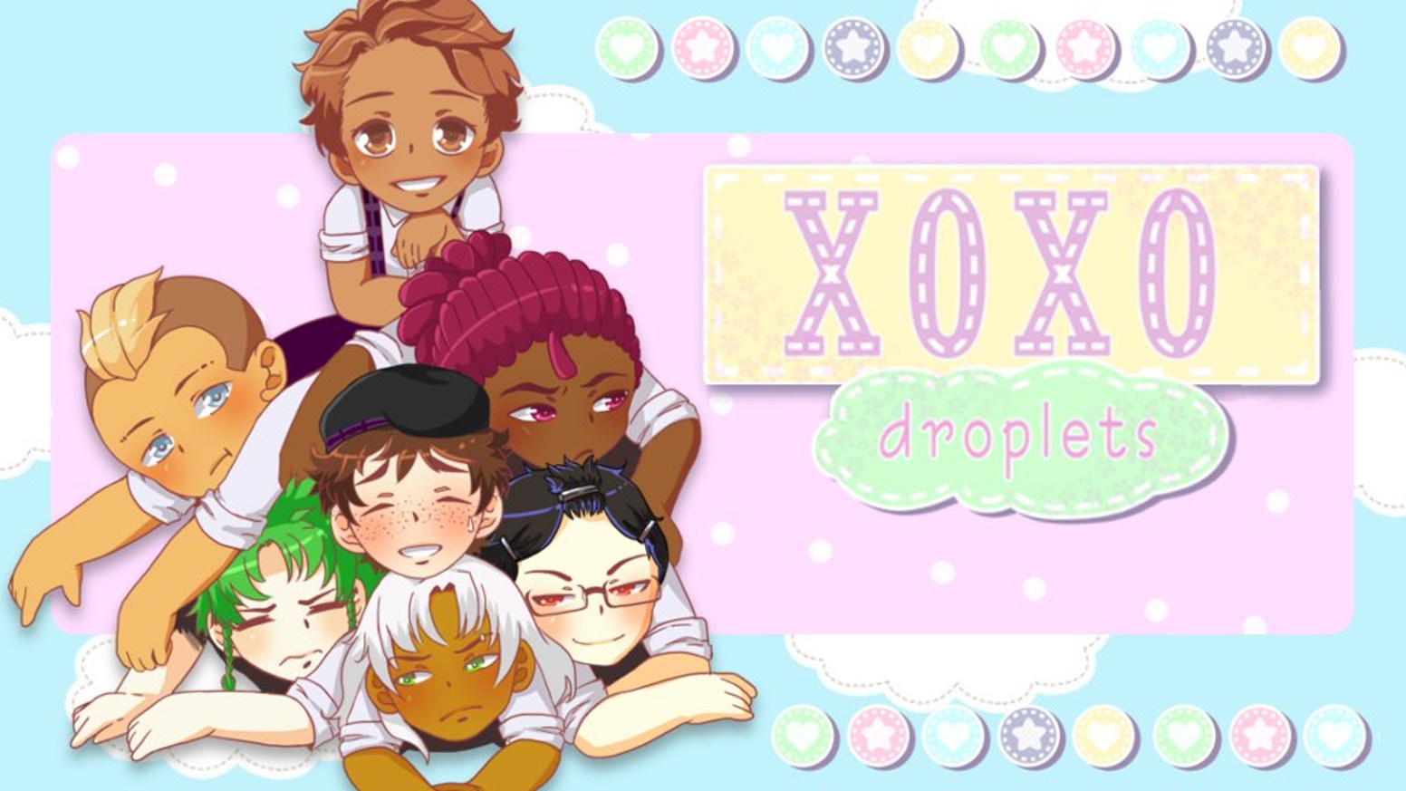 An otome visual novel about a humorously jerky young lady and her mission to woo one of six obnoxious guys. Free and paid versions!