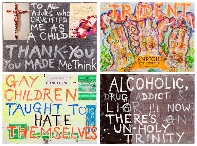 Examples of some of the A3 print choices of David's artworks