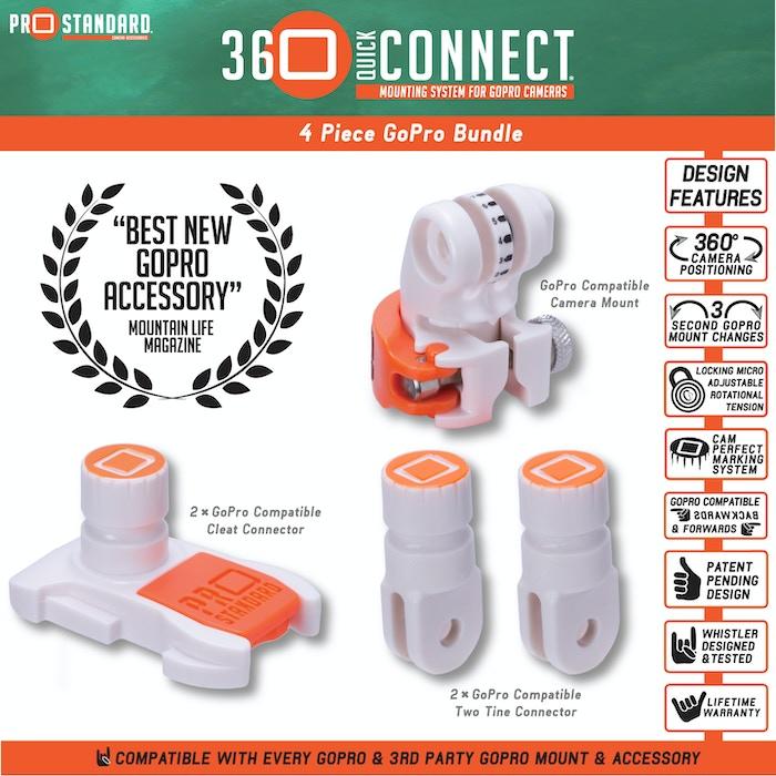 360 Quick Connect - 4 Piece Bundle for GoPro