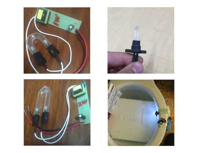 Early Anti-Germ IllumiBowl Bulb Prototypes