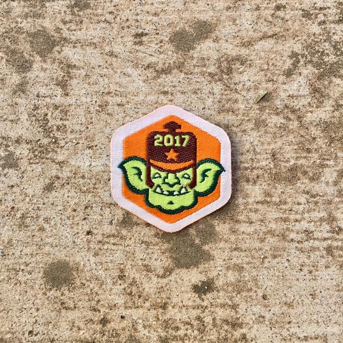 2017 COPPER GOBLIN SPIRIT BADGE