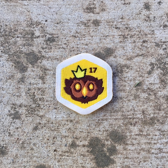 2017 GOLDEN OWLBEAR SPIRIT BADGE