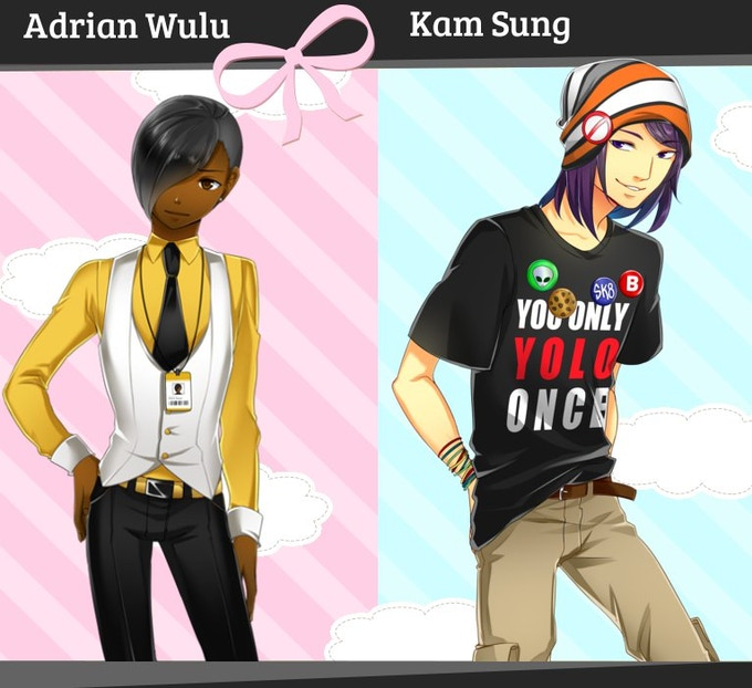 These are the two side boyfriend options available in the full version.