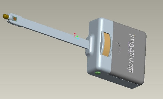 3D Render of AA Body with Anti-Germ Diode