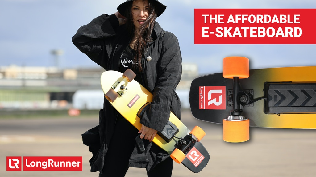First affordable LongRange Electric Skateboard - Longrunner project video thumbnail