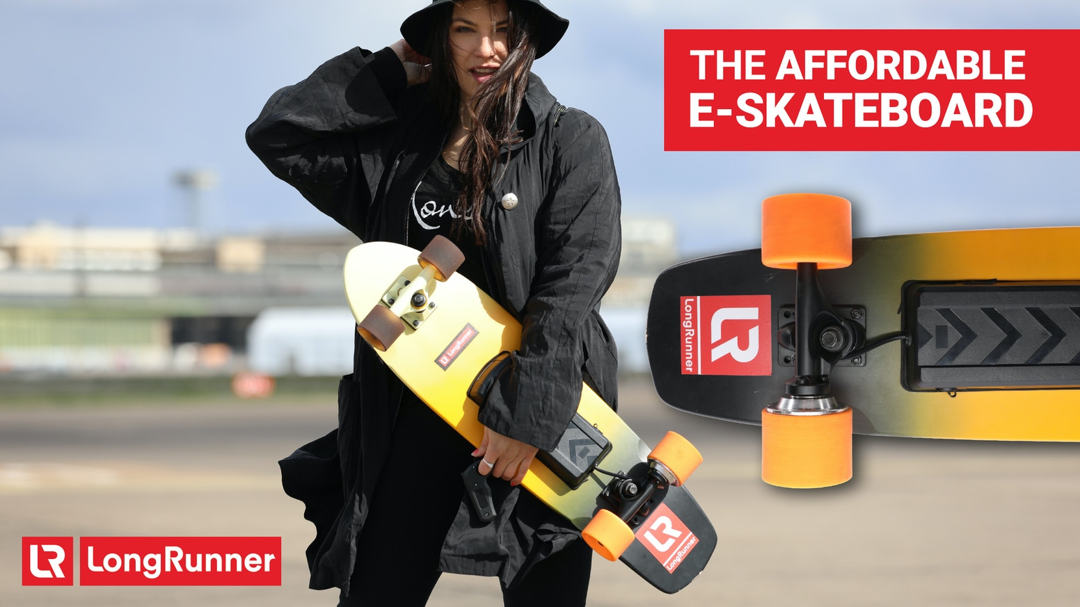 We managed to create a real high-power electronic LongBoard for unbeatable low production costs - to give everyone the eSkate Feeling!