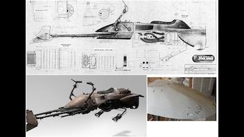 Star Wars Speeder Bike Lifesize Replica Commissions