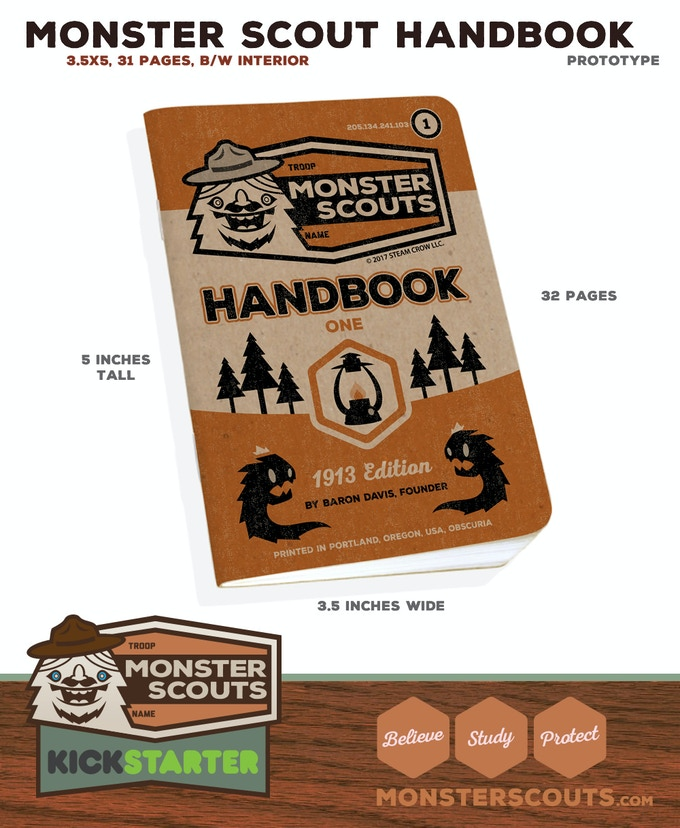Mini-handbook is suitable for the pocket, Scouts satchel, or Dark Library