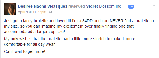 Desiree Velasquez - Facebook Review