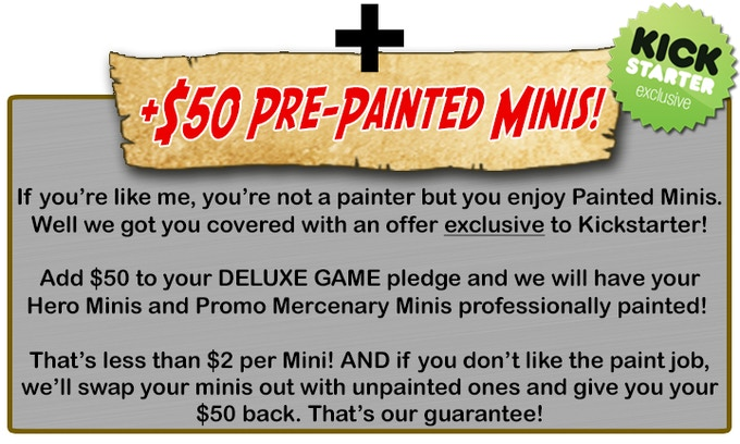 Pre-Painting is for Heroes and Mercenaries ONLY (excluding the Nomads). Warriors and Serfs do not come Pre-Painted. This Add-On is covered by a 30 Day *Money-Back Guarantee!
