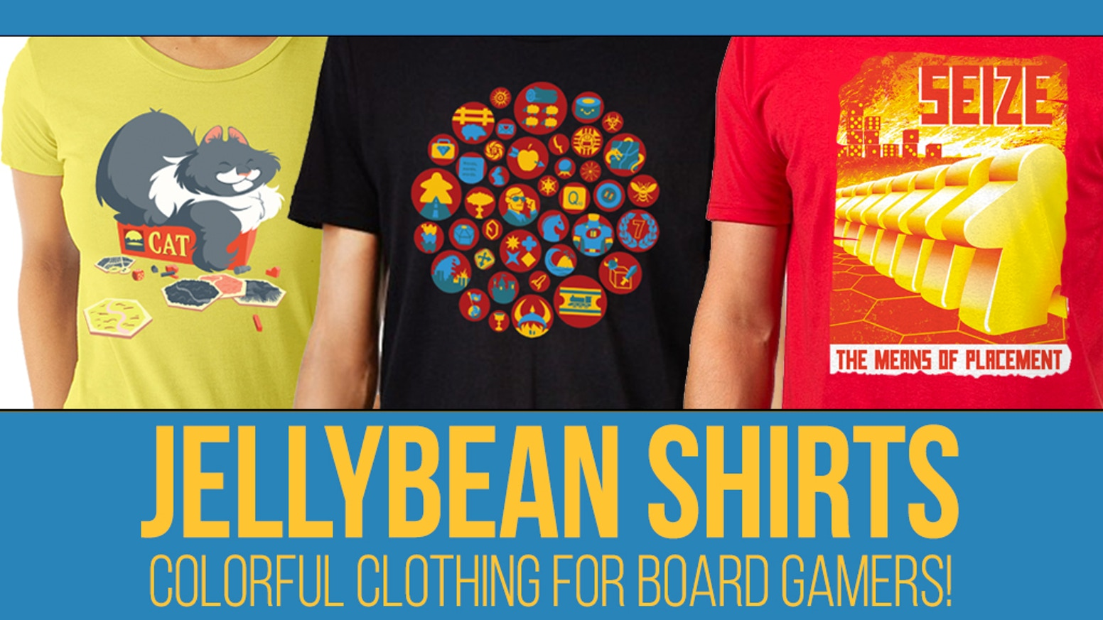 Show off your love of tabletop gaming with these high-quality shirts. Three stunning designs for gamers of all types. Available for pre-order for a limited time only!